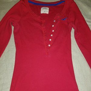 Red Hollister M Top
